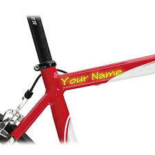 2 CUSTOM MADE BIKE FRAME STICKERS WITH YOUR NAME DECAL