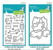 Lawn Fawn Photopolymer Clear Stamp & Die Combo ~ CRITTERS AT THE DOG PARK ~LF515