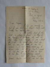 1945 Letter to Woman from Name British Soldier in Berlin (BAOR). Flirting Style