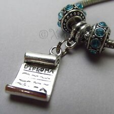 Diploma European Charm And Birthstone Beads For Large Hole Bracelets - Grad Gift