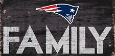 """New England Patriots FAMILY Football Wood Sign - NEW 12"""" x 6""""  Decoration Gift"""