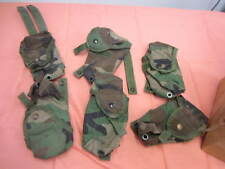 Lot of 2 Double Mag Pouch Woodland Camo Molle 30 Round Magazine Pouch