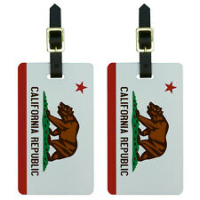 California Republic Flag Luggage Suitcase Carry-On ID Tags Set of 2