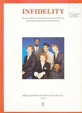 Infidelity - Simply Red - 1986 Sheet Music