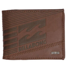 Cartera de piel sintética Billabong Junction Wallet Chocolate U5WM07