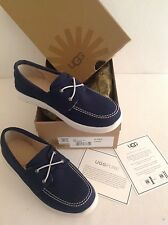 Authentic 100% UGG Australia Youth Anchor Boat Shoes Navy 4 UK or 35 EU
