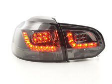 VW GOLF 6 MK6 1K 2008-2012 neri LED Posteriore Tail lights taillights RHD Gratis P&P