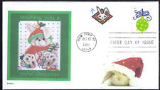 CHRISTMAS BUNNY  CUTE RABBIT  HOLIDAY BAUBLES 2011 FDC- DWc  CACHET