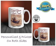 Giant African Land Snail Personalised Ceramic Mug: Perfect Gift. (P021)