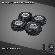 4X 1/10 Monster Truck Tire Tyres for Traxxas HSP Tamiya HPI RC Car NEWEST E7I9