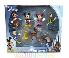 Disney Mickey Minnie Mouse & Friends  8PC Figurines Toy Cake Topper Set
