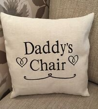 Laura Ashley Natural Austen Fabric DADDYS CHAIR Cushion Cover Embroidered