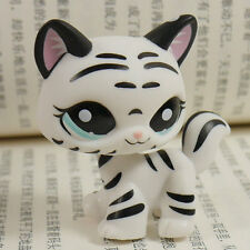 "IN HAND LPS LITTLEST PET SHOP MINI 3"" FIGURE TOY Black white tiger KITTY"