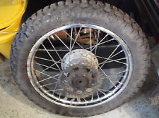 73 Suzuki TC 125 Rear Wheel w Sprocket & 3:50X18 Tire NICE TS 185 OEM T2