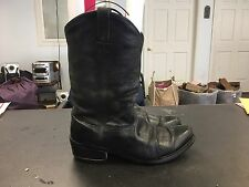 Black Leather Western Boots Men's Size 11 EE
