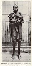 ZANGUEBAR TRIBU KIKOUYOUS TRIBE VIEILLE FEMME OLD WOMAN IMAGE 1902 OLD PRINT