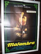 MALOMBRA  MANIFESTO CINEMA 140 X 100 PAOLA SENATORE  1983 SPEDIZIONE GRATIS