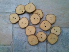 A set of 12 handmade wooden buttons - made from greek olive wood tree