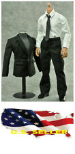 ❶❶**NEW* 1/6 scale Black Color Suit Full Set Man clothing Hot toys US seller❶❶