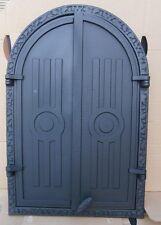 old cast iron fire door / bread oven door / stove smoke / COLORS / 400 x 590mm