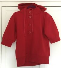 Mesdames Old Navy rouge à manches courtes pull capuche taille xs