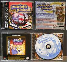 PS1 Patriotic Pinball Arcade Sony Playstation 1 Tested Play Complete Black Label