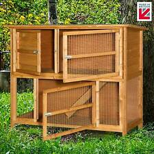 XL 4ft Double 2 tier Rabbit Hutch Cage!! FREE WEATHER SHIELD NO COVER REQUIRED!!