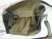 "MILITARY CANVAS BAG VIETNAM WAR CHINESE SURPLUS POUCH W/ STRAP 8"" X 6"" X 5"""