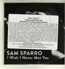 (CW363) Sam Sparro, I Wish I Never Met You - DJ CD