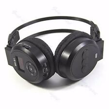 Player Sport MP3 LCD Foldable Wireless Headphone Headset FM Radio TF Card Black