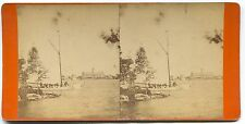 Yacht & Hotel  Thousand Islands River St. Lawrence Stereoview