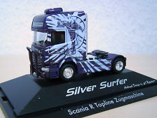 "Herpa - Scania R`09 TL Solo-Zugmaschine ""Silver Surfer"" - PC-Modell 110754 -1:87"