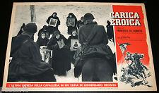 fotobusta originale CARICA EROICA Francesco De Robertis 1952 Savoia Cavalleria