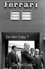 Enzo Ferrari Outside of the Ferrari Factory 1970's Portrait Photograph