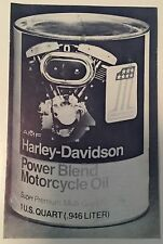 "VINTAGE AMF HARLEY DAVIDSON #1 Advertising Booklet ""the Power Blend Story"" Rare"