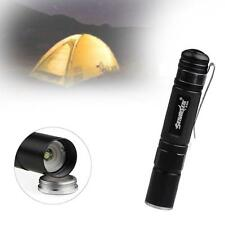 Mini CREE LED Q5 1500 Lumen Lamp Aluminum Flashlight Torch Straight AAA BlackSK