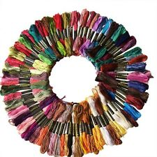 100X Colors Cotton Thread Embroidery Floss Sewing Skeins Craft Knitting Spiraea