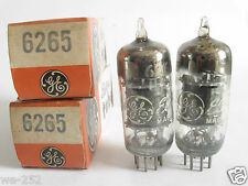 2 matched GE 6265 (Special 6BH6)tubes - Tested @ 84, 86, min:50 (For Marantz 8B)