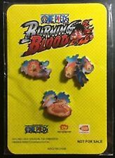 One Piece Burning Blood 3 Lapel Pin Set Gamestop Exclusive Luffy Sabo NEW OnCard