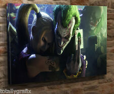 "Box Canvas Wall Art Print Picture The Joker And Harley Quinn18""x32"" Giclee JJ03"
