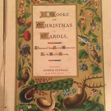 RARE, ANTIQUE, ILLUMINATED FROM ANCIENT MANUSCRIPTS, A Booke of Christmas Carols