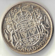 1952 CANADA 50 CENTS  SILVER UNCIRCULATED COIN DBW