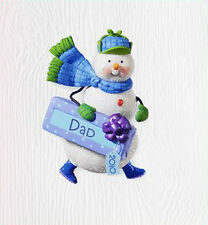 2010 Hallmark SNOWMAN FAMILY Ornament HAPPY HOLI-DAD DAD *Priority Shipping*