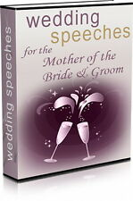 WEDDING SPEECHES For The Mother Of The Bride & Groom - Give A Great Speech (CD)