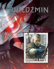 The Witcher 3: Wild Hunt GERALT Stamp Polish Exclusive Collector's POSTAGE