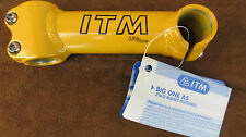 ITM Big One AS YL A-headset stem, 130mm, NOS, yellow, Bianchi