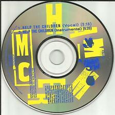 MC HAMMER Help the Children w/ VOCAL & RARE INSTRUMENTAL PROMO DJ CD single m.c.