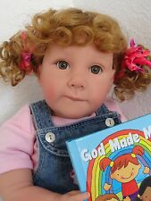 "Reborn 22"" Toddler girl doll ""Charity"" -Kinderland's Faith Club Kid"