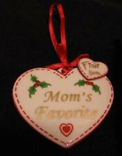 Avon China Mom's Favorite First Born Double Heart Ornament NEW/No Date