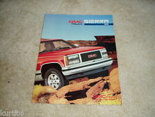 1991 GMC Sierra pickup truck K1500 K2500 C1500 sales brochure dealer literature